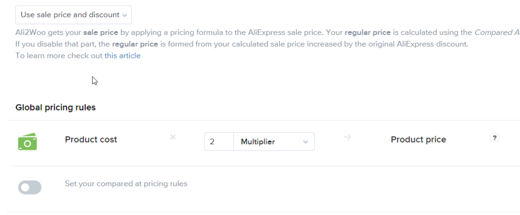 Pricing rules classic mode example 1024x424