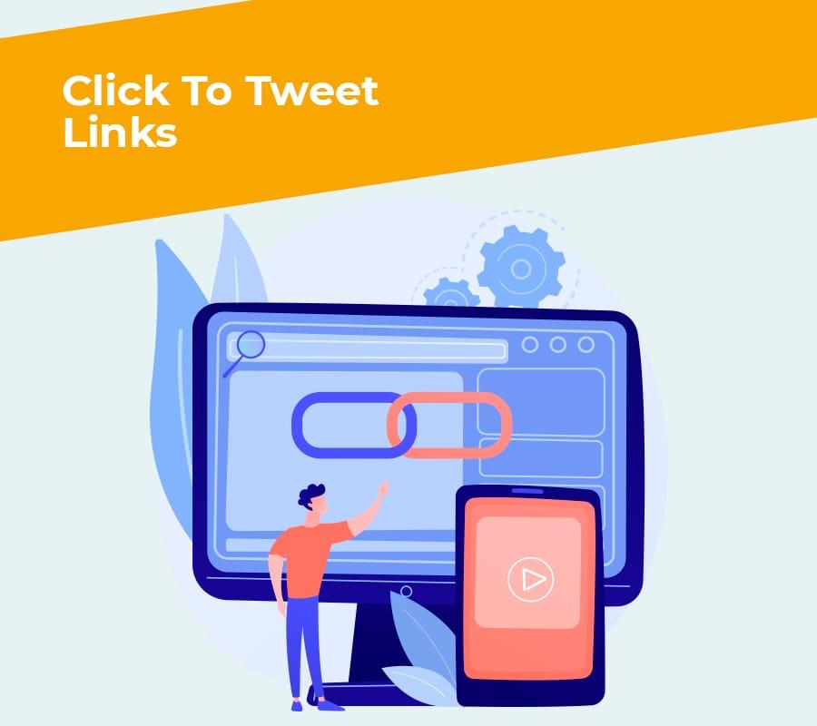 click to tweet links
