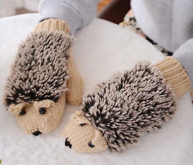 Hedgehog-Mitten