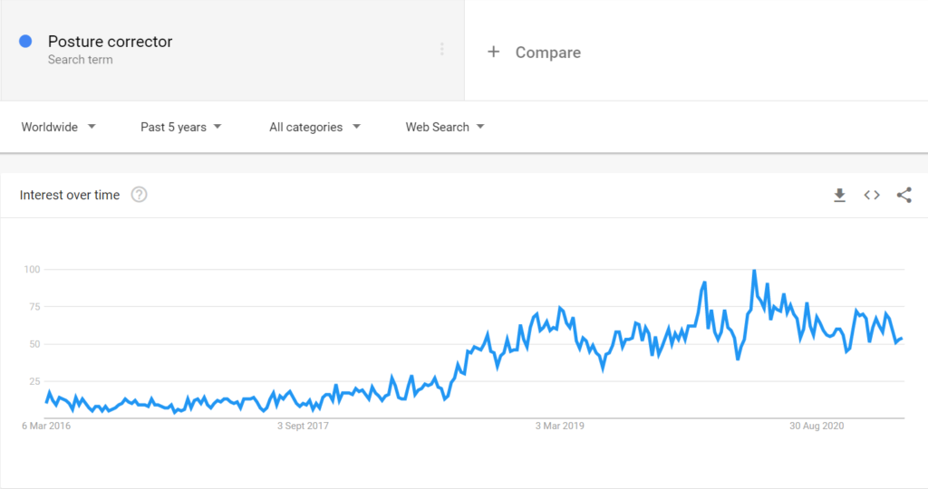 Posture items niche google trends