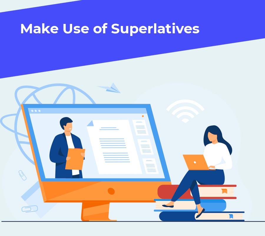 Make use of superlatives min