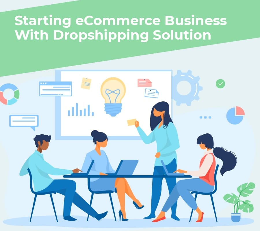 Starting ecommerce business with dropshipping solution min