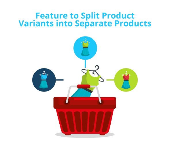 a feature to split product variations
